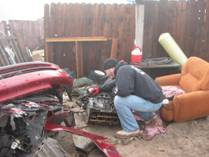 Chop shop investigation by Task Force  recovered in Hidden Valley, AZ. Detectives - Yuma, AZ – January 2012 March 2012