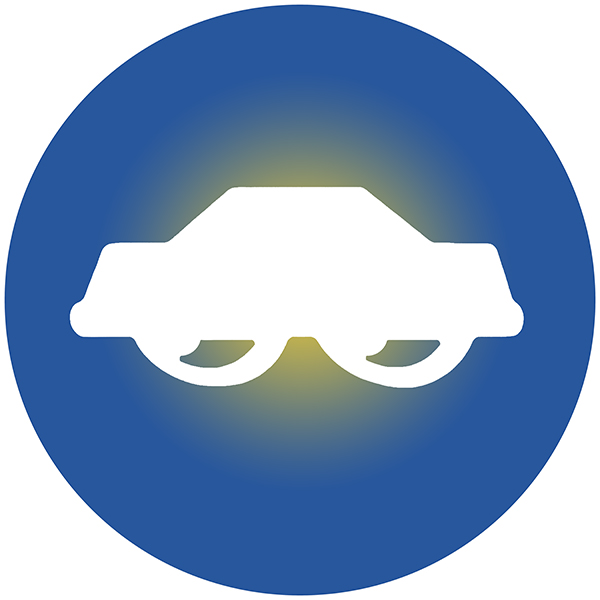 Icon of the Watch Your Car Symbol