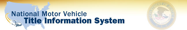National Motor Vehicle Title Information System banner.